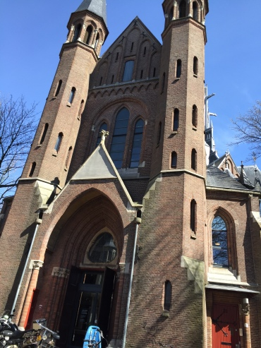 This church next to Vondelpark might look like a church but it is in fact an office